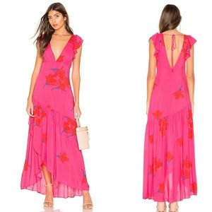 Free People She's A Waterfall Maxi Dress D54
